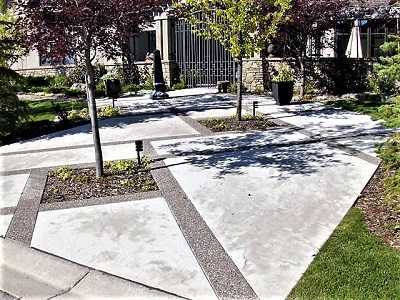 Concrete Floor with a Garden