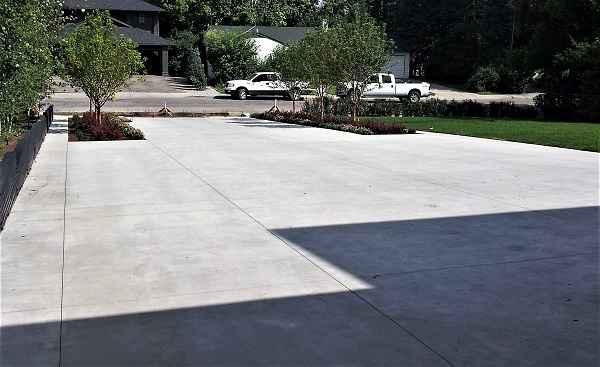 Sand Blast Concrete Driveway