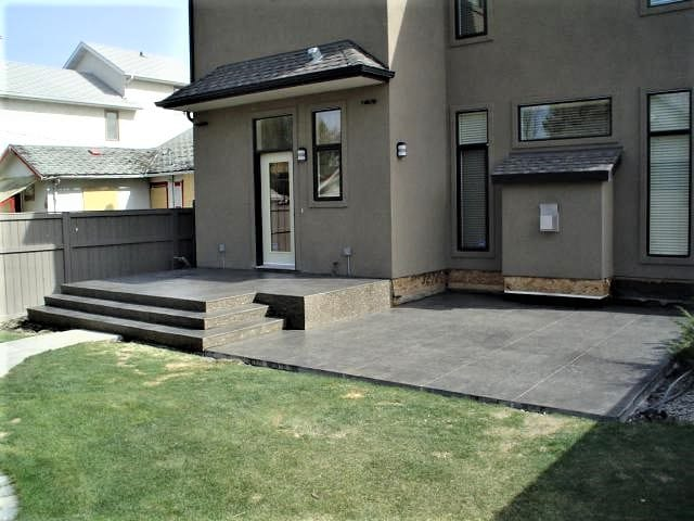 Stamped Concrete with Garden