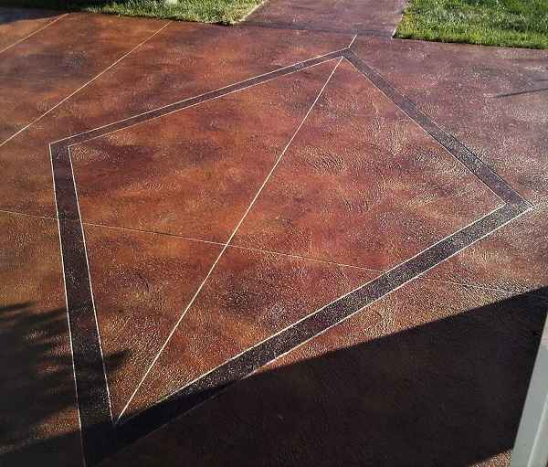 Brown Coloured Decorative Concrete