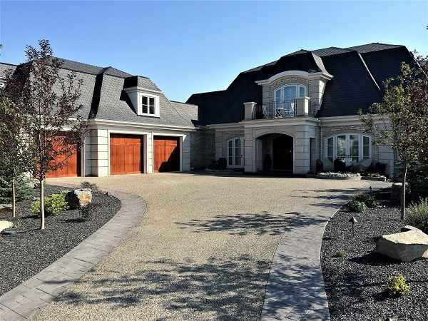 Long Driveway with Garage Doors