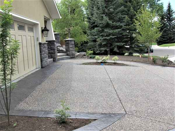 Wide Driveway in Front of Garage
