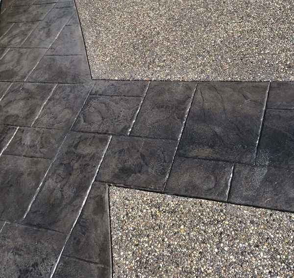 Brown Coloured Stamped Concrete