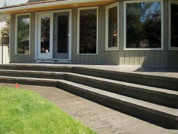 Long Stamped Concrete Stairs