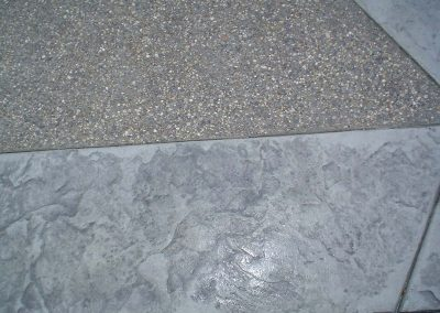 Exposed Aggregate Concrete with Stamped Borders