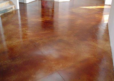 Orange Stained Concrete Floor