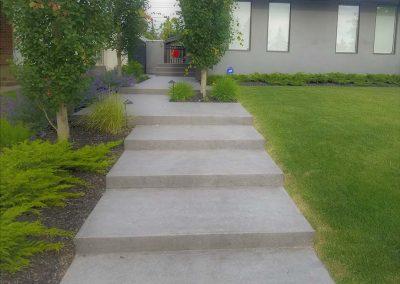 Sandblast concrete long Stairs