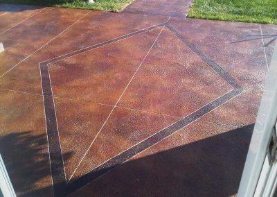 Diamond Shaped Red Concrete