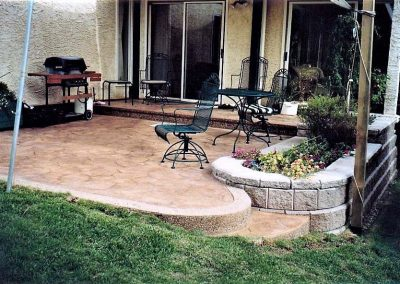 Chairs on Stamped Concrete