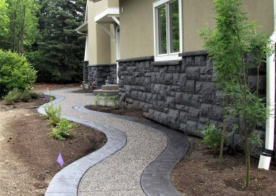 Stamped Border Concrete Walkway
