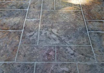 Tiled multi colour Concrete