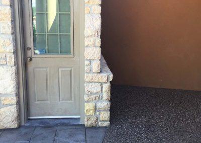 Back Door Concrete Entrance