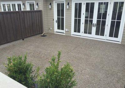Square Concrete Back Yard
