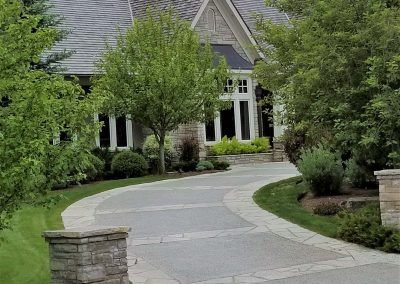 Beautiful Curved Concrete Driveway