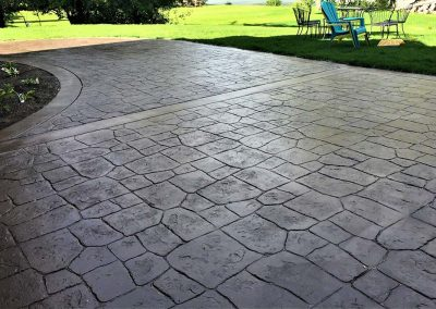 Stamped Floor beside Garden