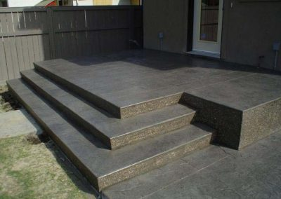 Dark Shaded Concrete Stairs