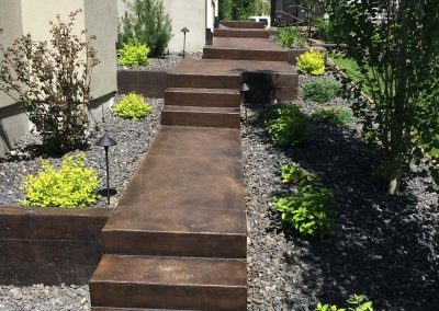 Brown Coloured Concrete Steps