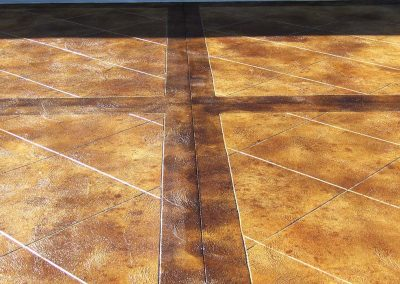 Tiled Concrete Floor with Borders