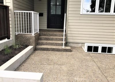 Freshly constructed concrete steps