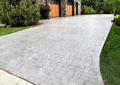 three-stamped-concrete-driveway