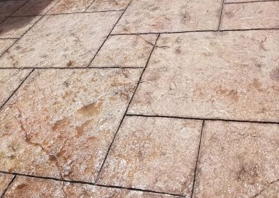 Stamped Concrete Titled Floor
