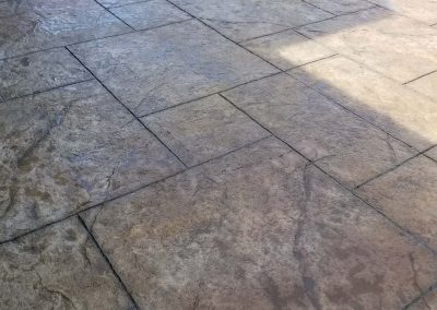 Stamped Concrete Blocks Floor