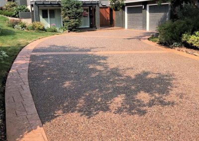 Stamped Concrete Borders Driveway