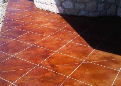 Tiled Stamped Concrete Floor