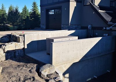Construction of concrete basement