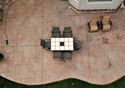 Stamped Concrete View from Top
