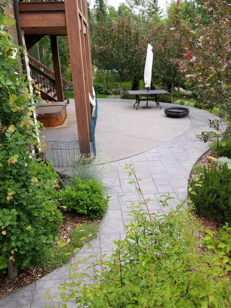Exposed Patio by Concrete Contractors Langley