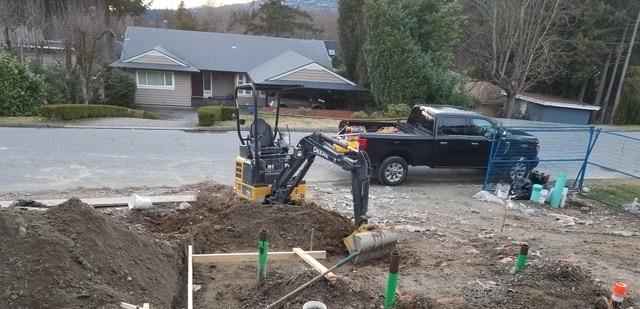 Construction Excavating Machine