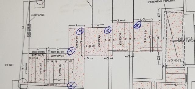 Construction Concrete Steps Plan