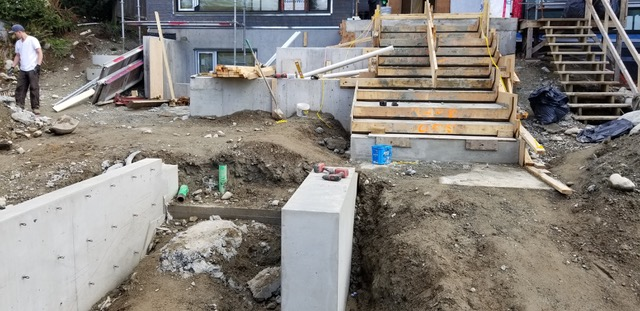 Unfinished Construction of Steps