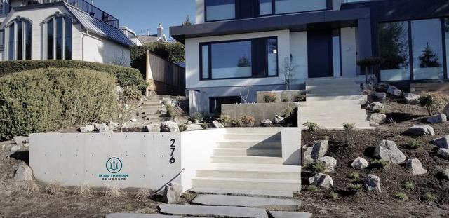 Beautiful BC Concrete Steps