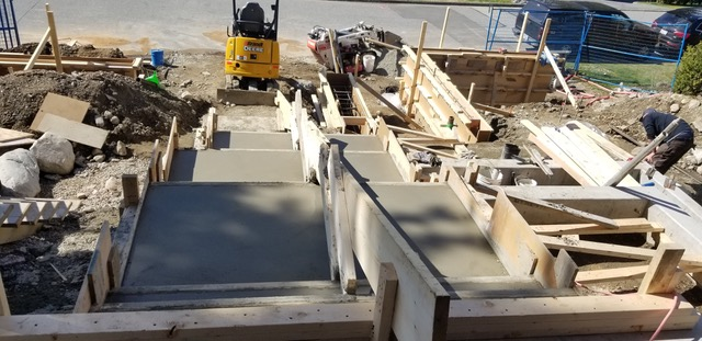 Concrete Steps with Fresh Cement