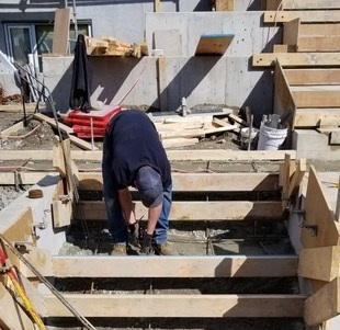 Man Working on Steps