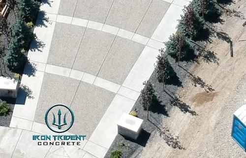 Top View Concrete Driveway