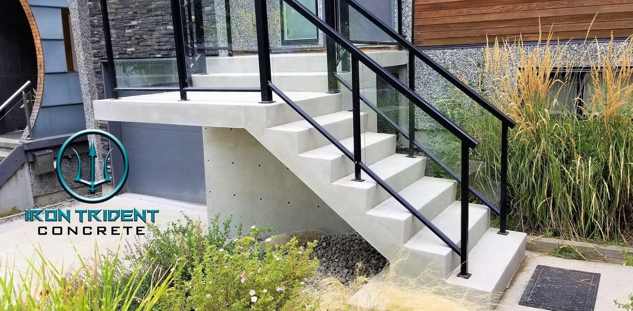 Wood Steps Turned Concrete Steps
