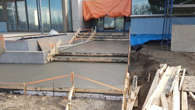 Wet Cement Steps and Landings
