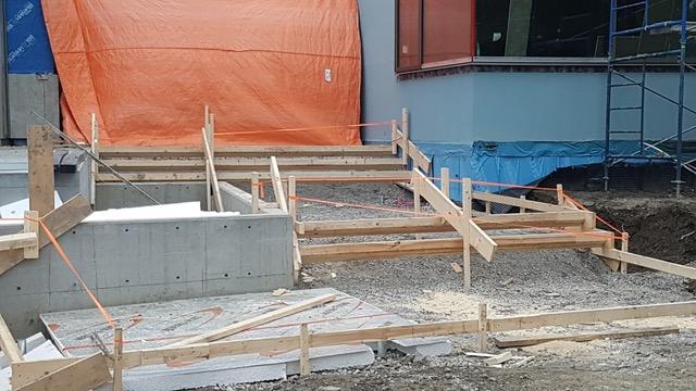 Concrete Steps Under Construction