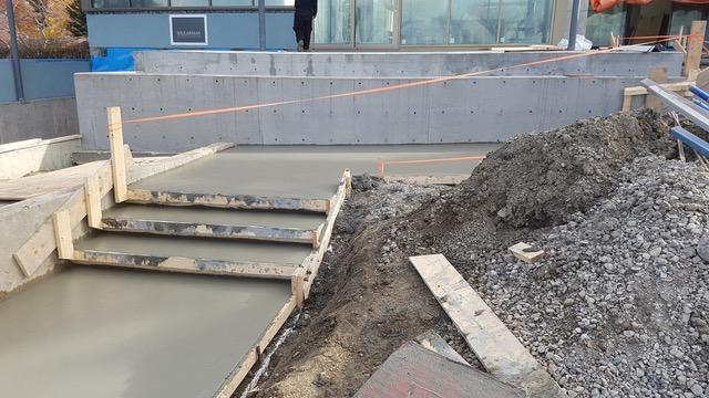 Fresh Cement Steps