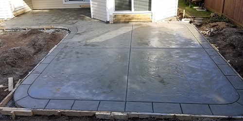 Finshed Hand Cut Stamped Concrete