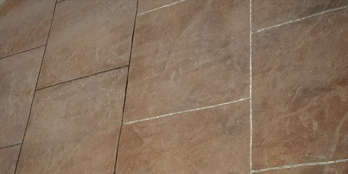 Square Cut Stamped Concrete