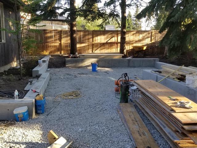 Contemporary Concrete Yard