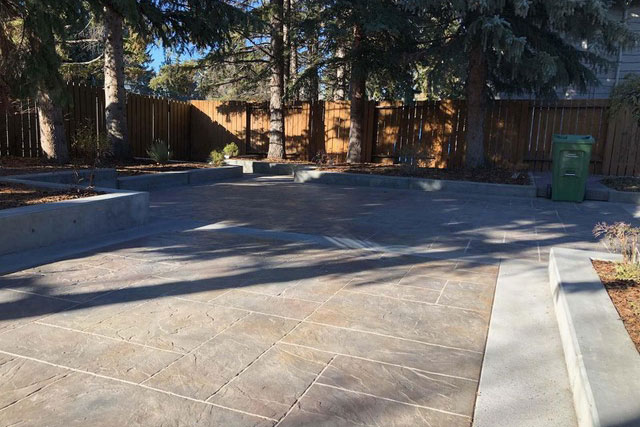 Stamped Backyard Concrete