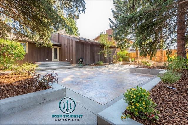 Finished Backyard Concrete Patio