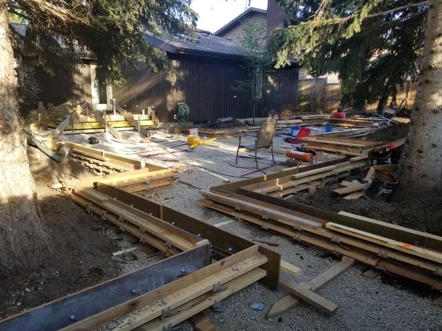 Backyard Construction