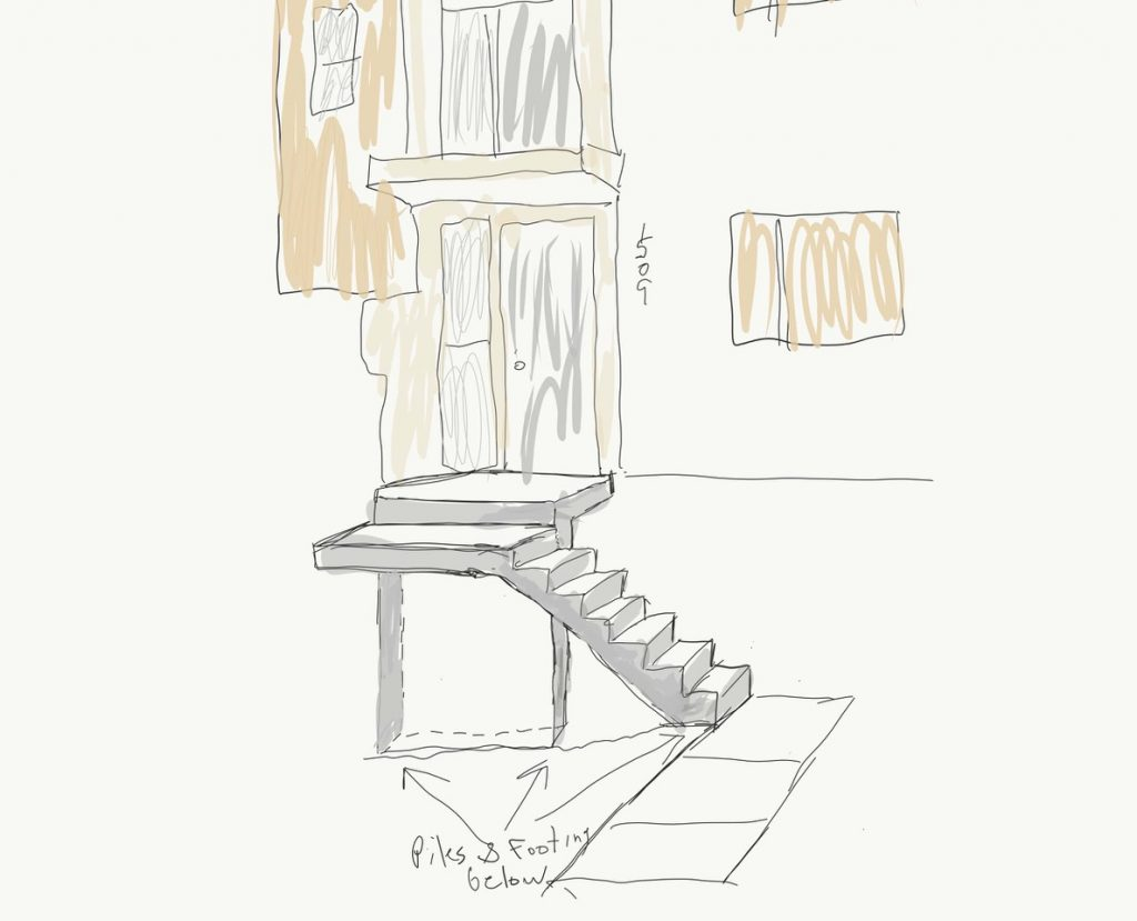 Concrete Steps Drawing